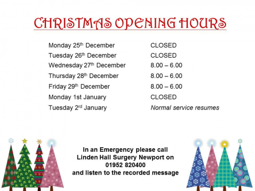 Newport Christmas hours